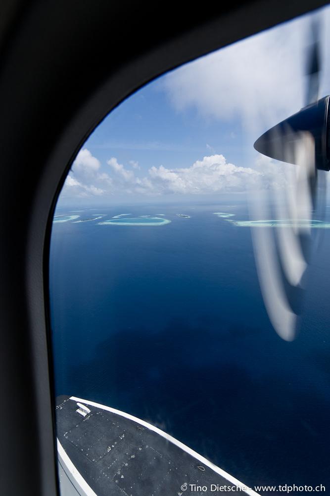 unter der wasseroberfl che des indischen ozeans s d ari atoll malediven flug und. Black Bedroom Furniture Sets. Home Design Ideas