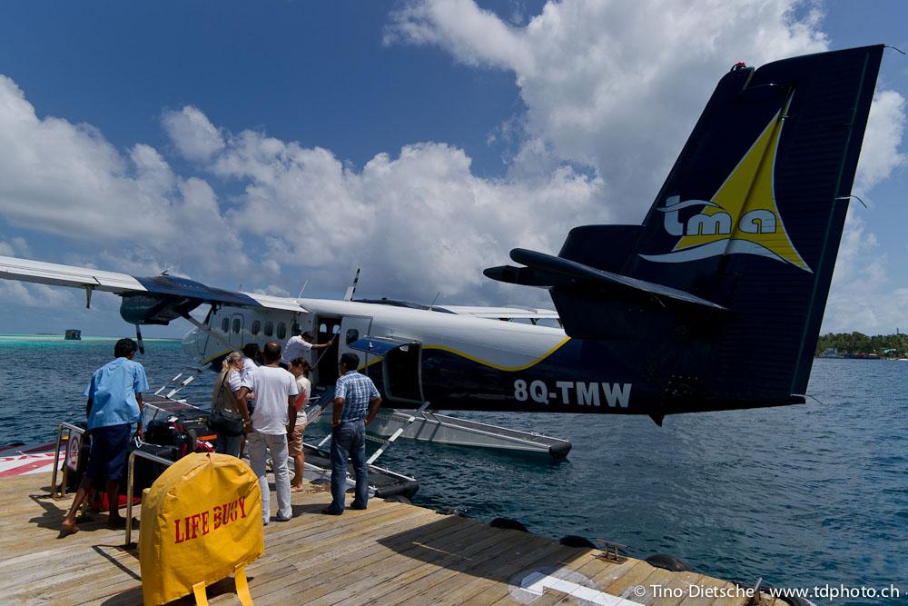 gepäck wasserflugzeug malediven